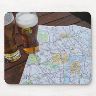 Map of London City Center Mouse Pad