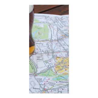 Map of London City Center Full Color Rack Card
