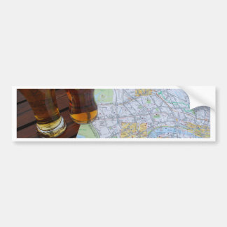 Map of London, England - Europe Travel to the UK Bumper Sticker