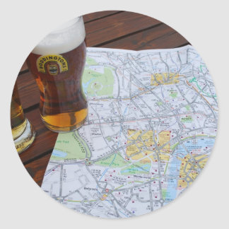 Map of London, England - Europe Travel to the UK Classic Round Sticker