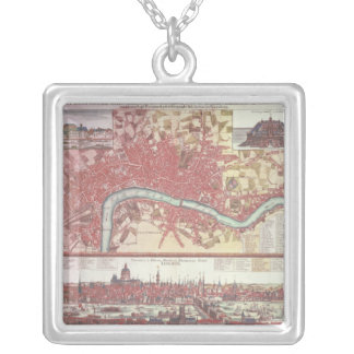 Map of London Silver Plated Necklace