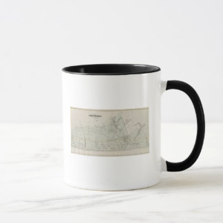 Map of Long Branch, NJ Mug
