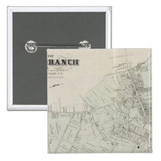 Map of Long Branch, NJ Pinback Button