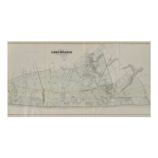 Map of Long Branch, NJ Poster