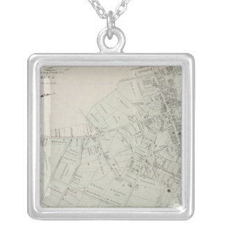 Map of Long Branch, NJ Silver Plated Necklace