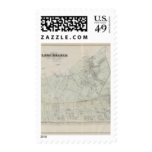 Map of Long Branch, NJ Stamp