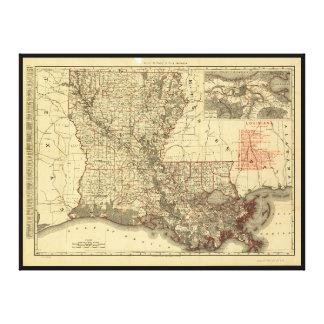 Map of Louisiana (1895) Canvas Print