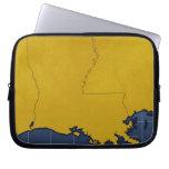 Map of Louisiana 2 Laptop Sleeve
