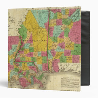 Map of Louisiana, Mississippi and Alabama 3 Ring Binders