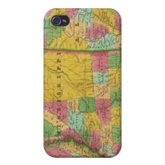Map of Louisiana, Mississippi and Alabama iPhone 4/4S Covers