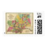 Map of Louisiana Mississippi And Alabama Postage Stamp