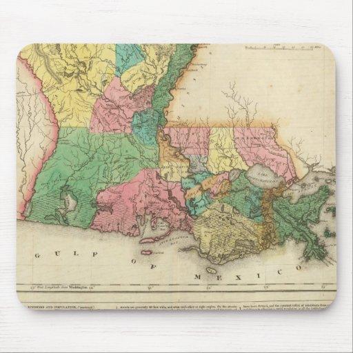Map Of Louisiana Mouse Pad