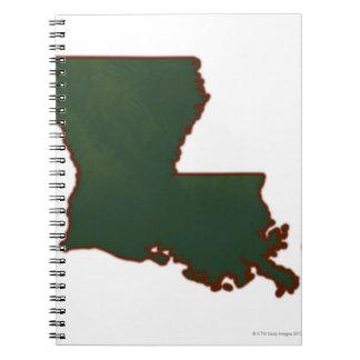 Map of Louisiana Notebook