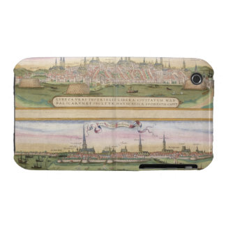 Map of Lubeck and Hamburg, from 'Civitates Orbis T iPhone 3 Cover