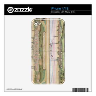 Map of Lubeck and Hamburg, from 'Civitates Orbis T iPhone 4S Skins
