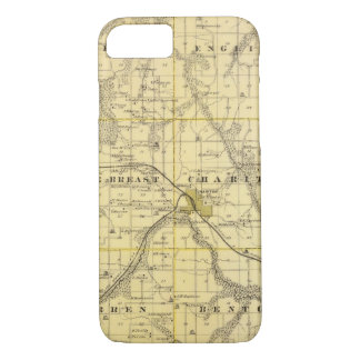 Map of Lucas County, State of Iowa iPhone 7 Case