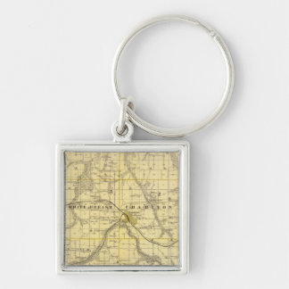 Map of Lucas County, State of Iowa Keychain