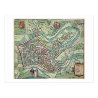 Map of Luxembourg from Civitates Orbis Terrarum Post Card