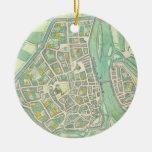 Map of Maastricht, from 'Civitates Orbis Terrarum' Ceramic Ornament