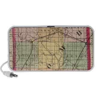 Map of Macomb County, Michigan Notebook Speaker