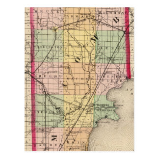 Map of Macomb County, Michigan Postcard