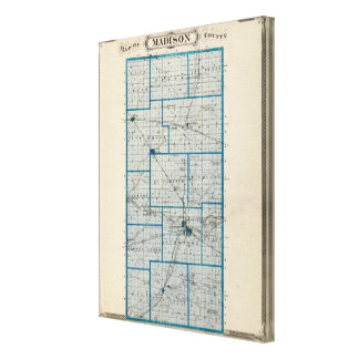 Map of Madison County Canvas Print