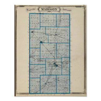 Map of Madison County Print