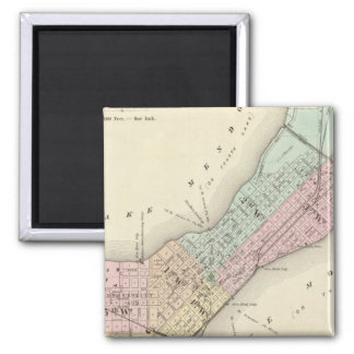 Map of Madison, Wisconsin 2 Inch Square Magnet