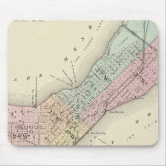 Map of Madison, Wisconsin Mouse Pad