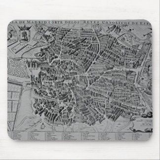 Map of Madrid Mouse Pad