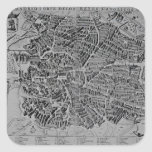 Map of Madrid Square Stickers