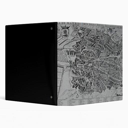 Map of Madrid Vinyl Binder