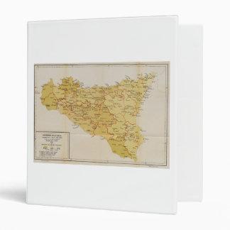 Map of Mafia Activity in Sicily Italy 1900 Binder