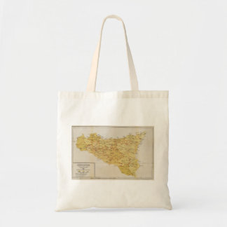 Map of Mafia Activity in Sicily Italy 1900 Budget Tote Bag