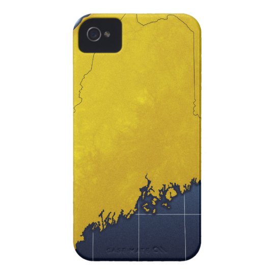Map of Maine Case-Mate iPhone 4 Case