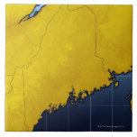 Map of Maine Large Square Tile