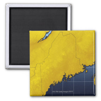 Map of Maine Magnet