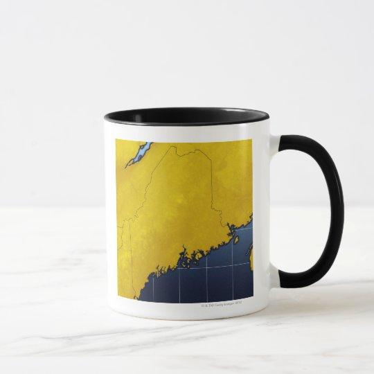 Map of Maine Mug