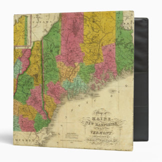 Map of Maine, New Hampshire, and Vermont 3 Ring Binders