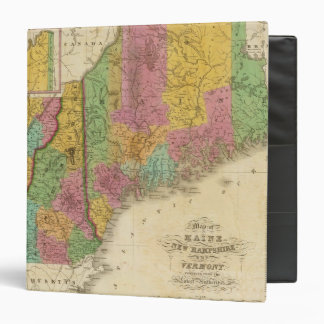 Map of Maine New Hampshire And Vermont Binder