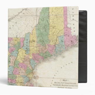 Map of Maine, New Hampshire, Vermont 3 Ring Binders