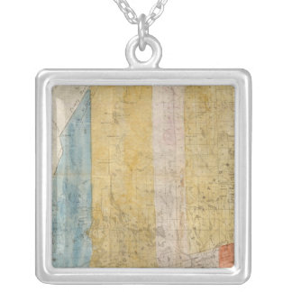 Map of Maine Silver Plated Necklace
