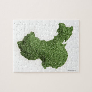 Map of Mainland China made of grass Puzzle