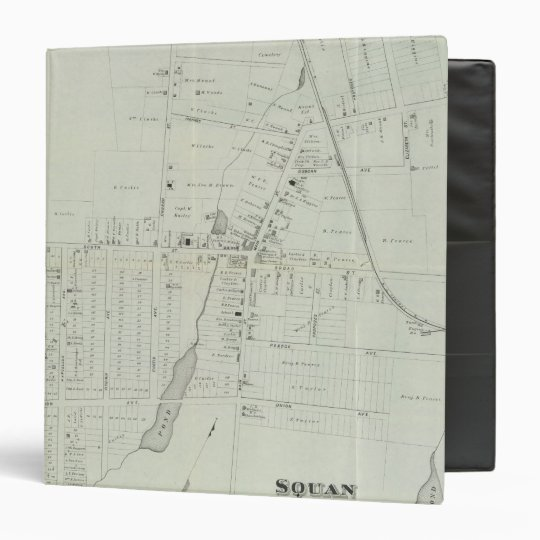Map of Manasquan, New Jersey 3 Ring Binder