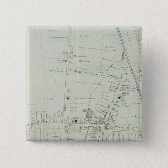 Map of Manasquan, New Jersey Pinback Button