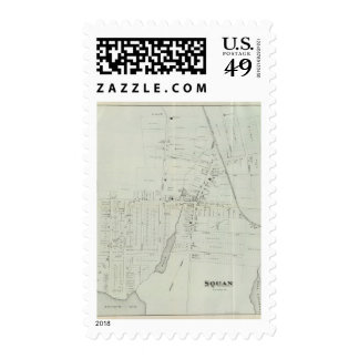 Map of Manasquan, New Jersey Postage Stamps