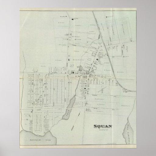 Map of Manasquan, New Jersey Print