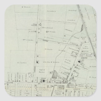 Map of Manasquan, New Jersey Square Sticker