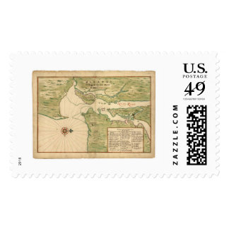 Map of Manhattan and the New York City Region 1639 Stamp