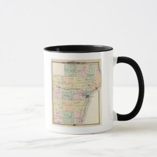 Map of Manitowoc County, State of Wisconsin Mug
